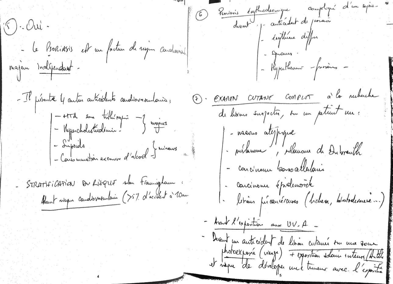 Questions 5 à 7